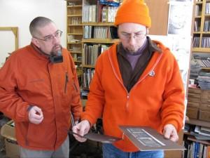 Tom & Gregg on a visit to Gordon's studio.