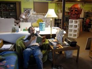 In the studio, 2012