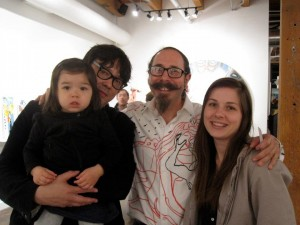 Tom with Edmar, Rachel & Ruby, 2012