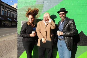Tom with Bev & Craig at the dedication of Tom's mural in West Lafayette