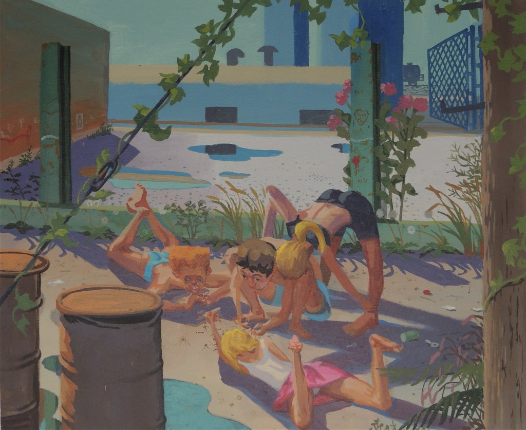 """Pulling The Legs of Spiders, 2011 acrylic on canvas 30 x 40"""""""