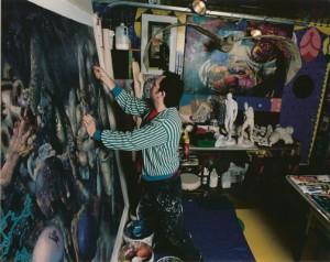 In the studio, 1999