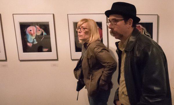 Tom and Linda at David Hauptschein's exhibit.