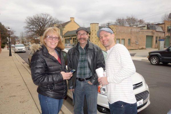 Linda, Tom & Kevin Blake at Kevin's Opening at the Riverside Art Center